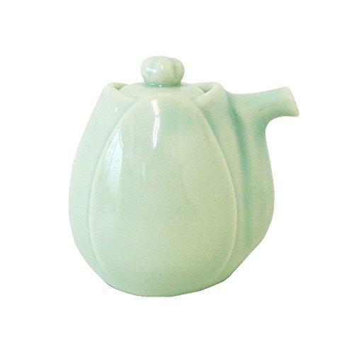 Pottery Sauce (Yamani Pottery Miyama Minoyaki haas Soy Sauce pot bottle Light Green Only Bottle from Japan)
