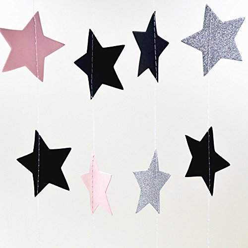 AWESON PARTY 26 ft Twinkle Stars Paper Garlands