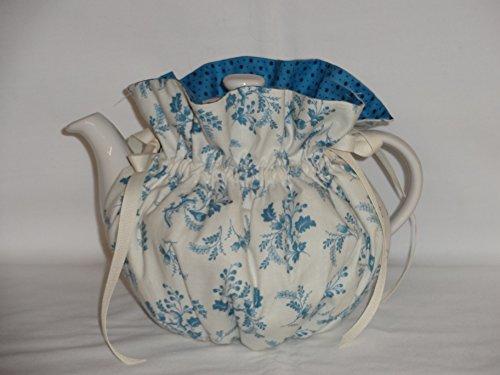 Pretty Blue Floral 6 Cup Reversible Tea Pot Cozy