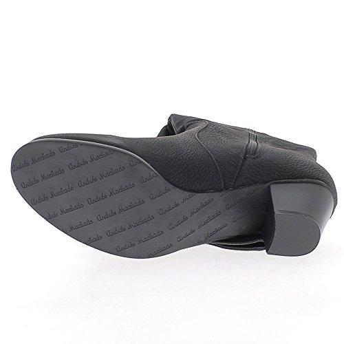 Forradas botas grandes de color negro tacón de 6cm de tamaño