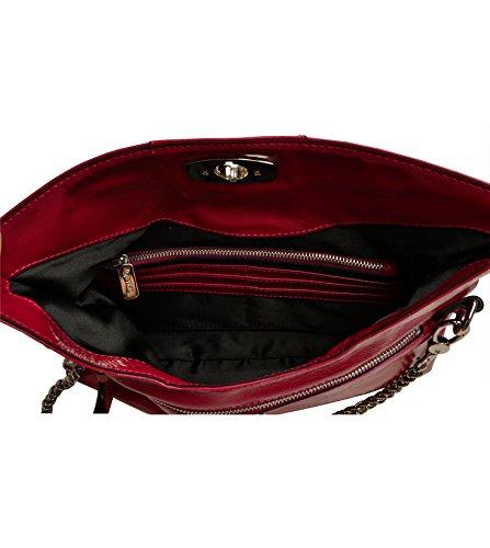 Body Bag Louvier Leather Cross Burgundy Calais Myrla qanOSfp