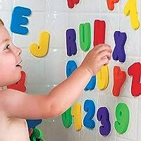 Heyeai Bath Toys, Bathtub Sticker Floating Letters, (26 Letters A-Z; 10 Numbers 0-9) Kids Bath Toys Baby Bathroom…