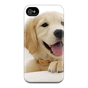 Flexible Tpu Back Case Cover For Iphone 4/4s - Golden Retriever Puppy