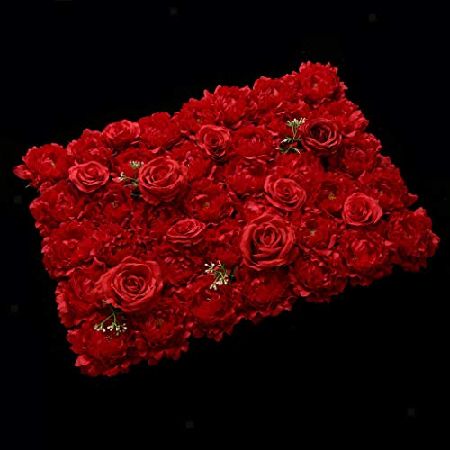 (Artificial Rose Peony Flower Wall Panels Wedding Venue Background Panels)