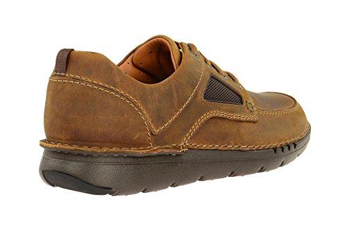 Cordones Marrón Tan Hombre Zapatos Clarks Derby Lea Dark Time para Unnature de BWaqOSw