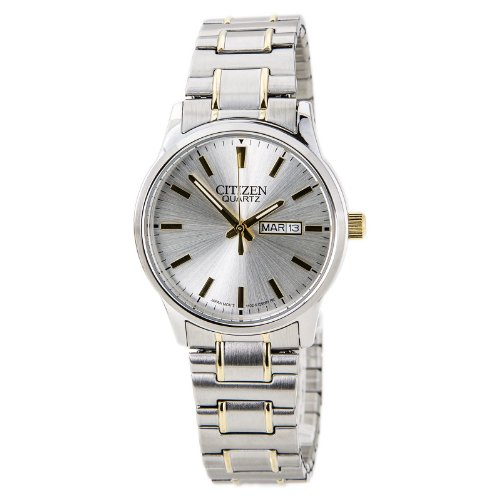 Citizen BF0614-90A Men's Easy Reader Silver Dial Two Tone Expansion Steel Band Watch