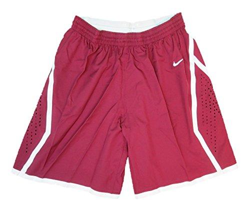 Nike Women's Hyper Elite Basketball Shorts (Large, Cardinal/White)