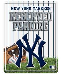 Ny Yankees Sign (MLB New York Yankees Parking Sign)