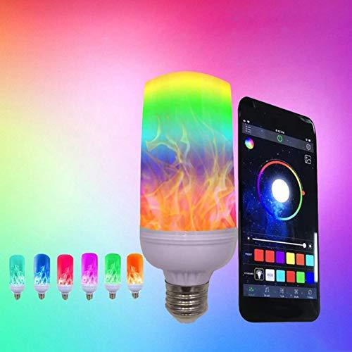 E27 LED Flame Effect Fire Light Bulbs (APP Control Multi-Colored Fire Light Bulb)) (Fake Candle App)