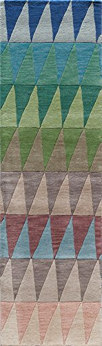 59MBU2380 Delhi Collection 100% Wool Hand Carved & Hand Tufted Contemporary Area Rug, 2'3