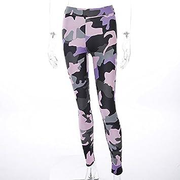 MAYUAN520 Impreso de Camuflaje Leggins Mujer Pantalones de ...
