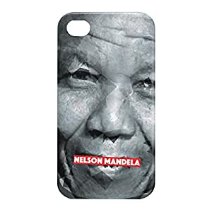 Loud Universe Apple iPhone 4/4s 3D Wrap Around Nelson Mandela Print Cover - Multi Color