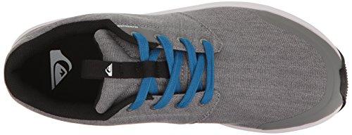 Quiksilver Herren Voyage Textil Sneaker Grau / Grau / Weiß