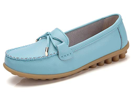 (VenusCelia Women's Comfy Plus Walking Flat Loafer(8 M US,Aquamarine))