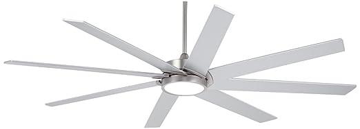 65 destination possini brushed steel led ceiling fan amazon 65quot destination possini brushed steel led ceiling fan aloadofball Choice Image