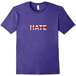 Mens No Hate T Shirt (Anti Hate T Shirt) Small Purple
