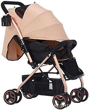 JINHH Moda Cuatro Estaciones Cochecito, De Dos Vías Ligero Cochecito De Bebé Paraguas Plegable De La Carretilla Strolle, para Niños De 0-3 Años