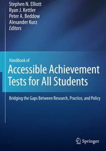 Cheap  Handbook of Accessible Achievement Tests for All Students: Bridging the Gaps Between..