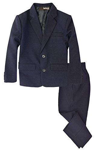 G218 Boys 2 Piece Suit Set Toddler to Teen (8, Navy Blue)]()