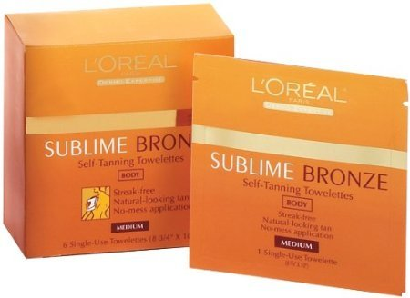 Loreal Sublime Bronze Self Tanning Towelettes - L'Oreal Paris Sublime Bronze Self-Tanning Body Towelettes, 6 Count (Pack of 2)