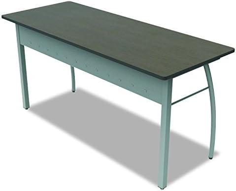Linea Italia TR742MOC Trento Line Rectangular Desk, 59-1 8w x 23-5 8d x 29-1 2h, Mocha Gray