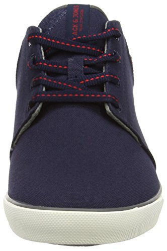 JACK & JONES Jjvertigo Canvas Sneaker Navy Blazer - Zapatillas altas Hombre Azul (Navy Blazer)