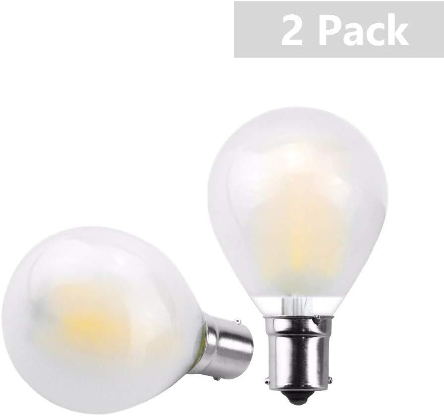 Luxvista 2x BA15S 1156 LED 12v-24v Bombillas, Blanco cálido 2700K, para Iluminación Interior de Vehículos, Camper, Baño, Barco, Luz de Estacionamiento Luz Exterior Coches