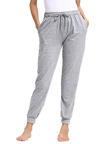 (Aibrou Pajama Pants for Womens Cotton Stretch Knit Lounge Jogger Pants Bottoms)