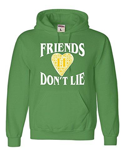 Adult Heart (Go All Out Screenprinting Small Irish Green Adult Friends Don't Lie Waffle Heart 11 Sweatshirt Hoodie)