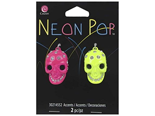 Cousin COU30214552 Skull Rhinestone Pink/Yellow Neon Pop Collection