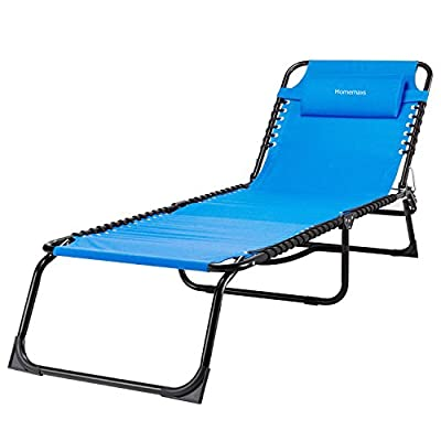 HOMEMAXS Zero Gravity Chair, Lounge Patio Chair, Heavy Duty Lawn Chair Support 300lbs, Oversized Adjustable Recliner with Headrest for Outdoor Yard Beach