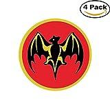 BACARDI Bat Sticker Decal Rum Alcohol 4x4