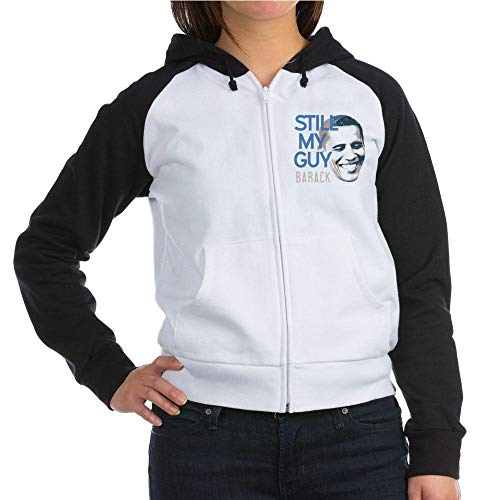 CafePress Still My Guy Barack Sweatshirt Women's Raglan Hoodie Black/White