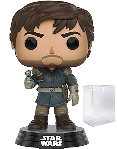 Funko Pop! Star Wars: Rogue One - Captain Cassian Andor Vinyl Bobble-Head Figure (Includes Pop Box Protector Case)