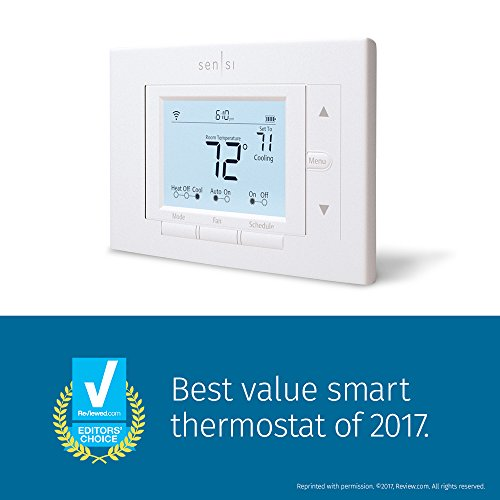 Emerson Sensi Wi-Fi Thermostat for Smart Home, 1F87U-42WF, Pro Version, Works with Alexa by Emerson Thermostats (Image #1)