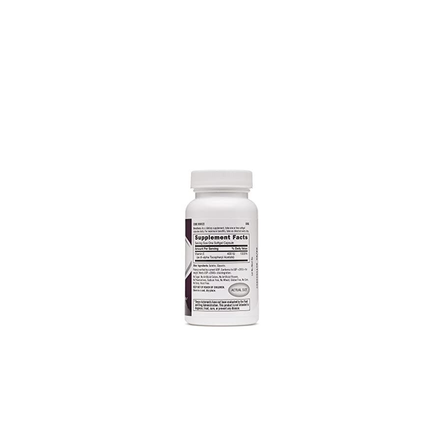 GNC Vitamin E 400 IU, Helps Support a Healthy Cardiovascular System