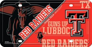 NCAA Texas Tech Red Raiders Metal License Plate ()