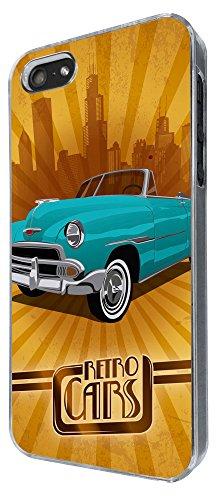 886 - Retro Car vintage pimp car Design iphone 5 5S Coque Fashion Trend Case Coque Protection Cover plastique et métal