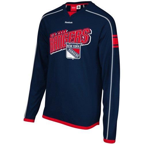NHL New York Rangers Long Sleeve Jersey T-Shirt, Medium -  Reebok