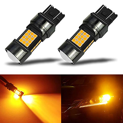 2015 Lexus Ls430 Replacement - iBrightstar Newest Extremely Bright 36-SMD 3030 Chipsets 7440 7441 7443 7444 992 LED Bulbs with Projector Lens replacement for Turn Signal Lights,Amber Yellow