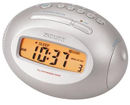 Sony ICF-C743 Reloj Digital Azul, Plata - Radio (Reloj, Digital,