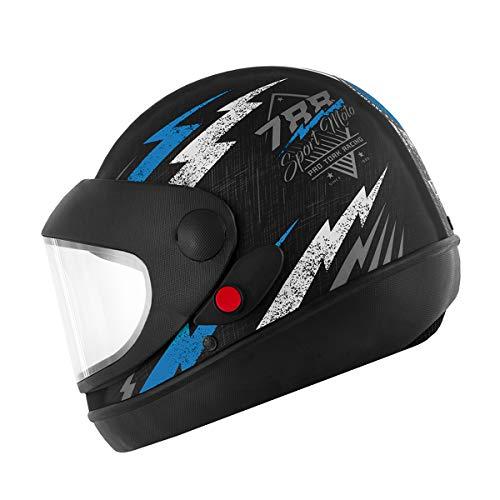 Pro Tork Capacete Super Sport Moto Fosco 56 Preto/Azul