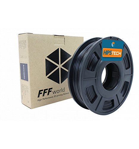 HIPS Tech 250g. Black 1.75 mm High performance H.I.P.S. Filament for 3D Printer