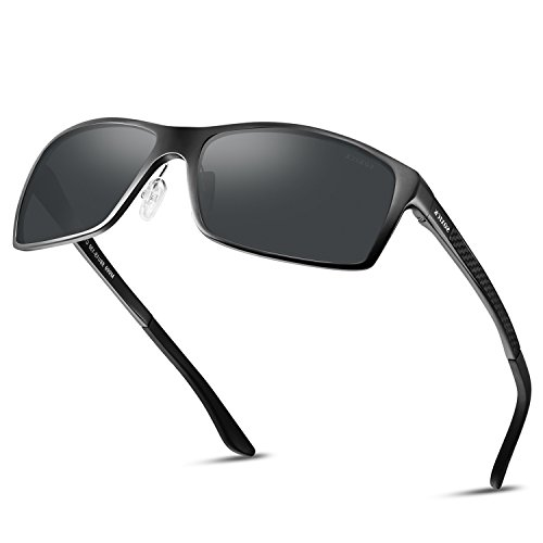 Polarized Mens Sunglasses For Driving Lightweight Wayfarer Best Sunglasses by SOXICK