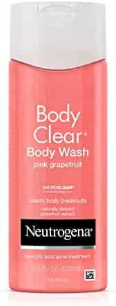 Neutrogena Body Clear Body Wash with Salicylic Acid Acne Treatment to Prevent Breakouts, Pink Grapefruit Scent, 8.5 fl. oz (Pack of 3)