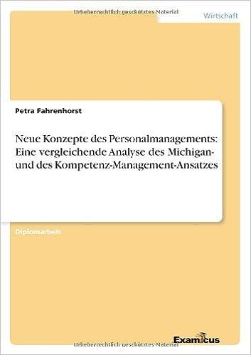 Book Neue Konzepte des Personalmanagements: Eine vergleichende Analyse des Michigan- und des Kompetenz-Management-Ansatzes (German Edition)