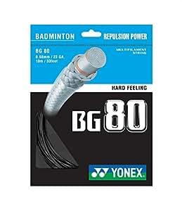 Yonex BG 80 Badminton String - Black