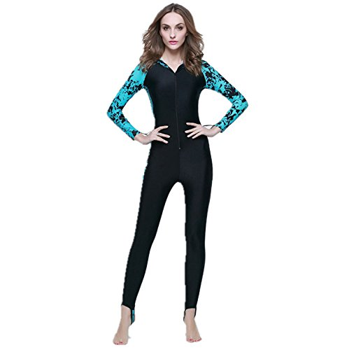 VOYAGEA Wetsuit Companion Long-sleeved clothing jellyfish sunscreen piece swimsuit (blue, - Triathlon Wetsuit Buoyant Most