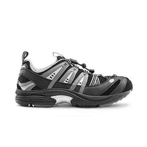Dr. Comfort Performance-X Men's Therapeutic Diabetic Double Depth Shoe: Black 11.5 Wide (W/4E) Elastic & Standard Laces