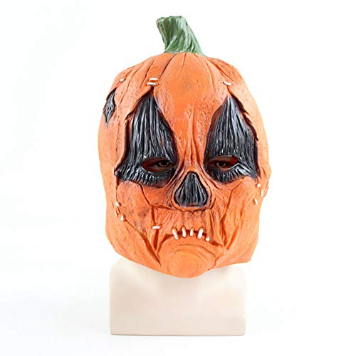 KXIN Halloween Latex Pumpkin Mask, Cos Ghost Pumpkin Head Cover, Family Party Spoof Game Mask]()
